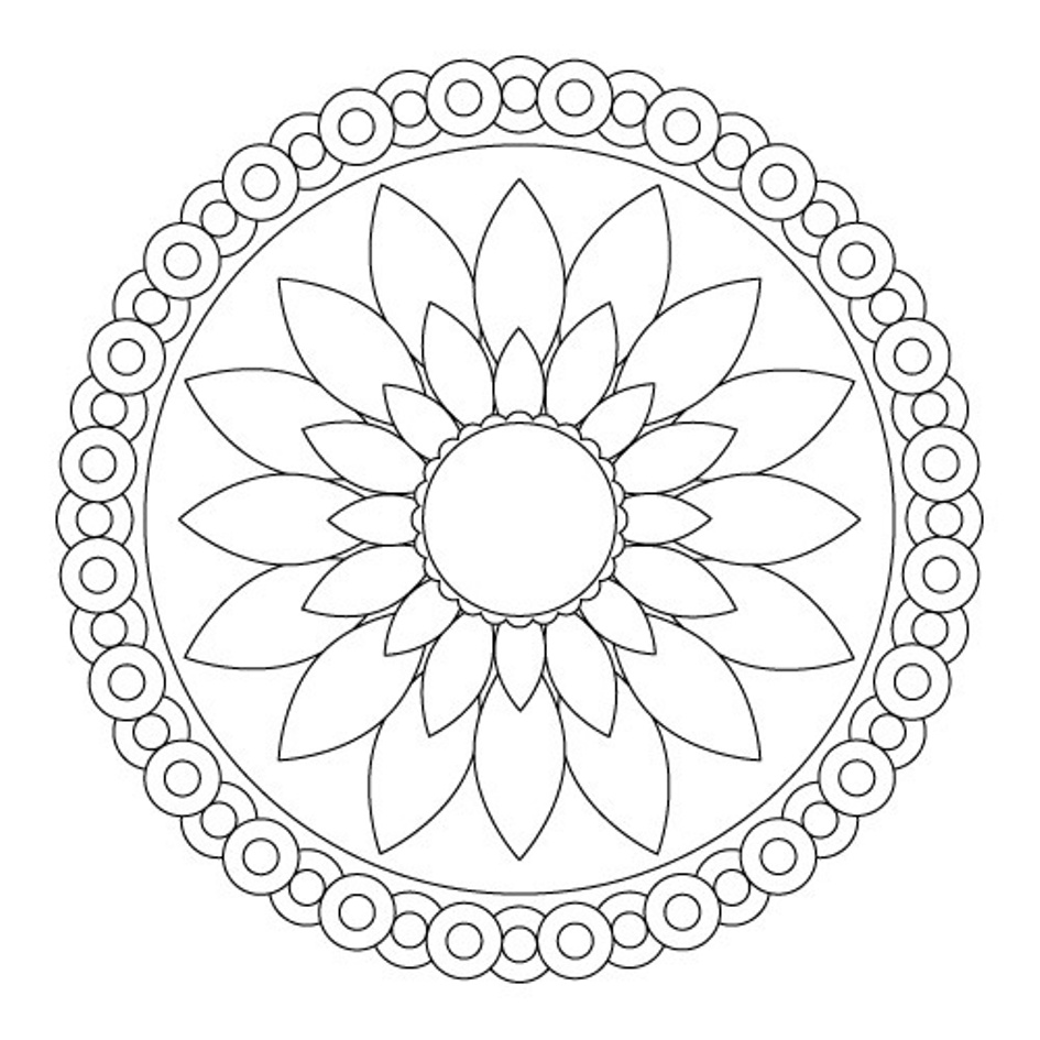 simple mandala coloring pages download and print for free. Black Bedroom Furniture Sets. Home Design Ideas