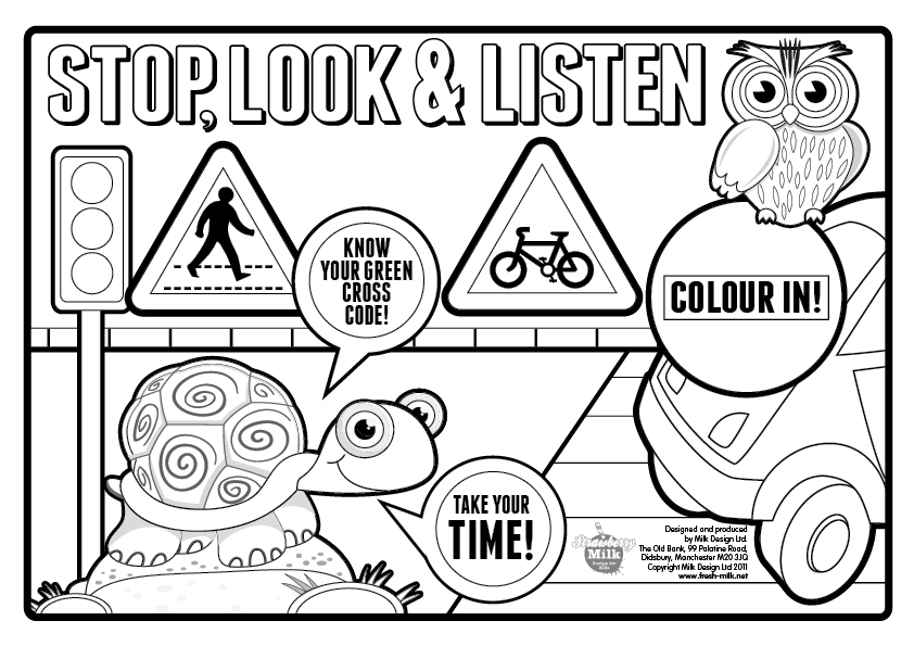 kid coloring pages about safety - photo#2