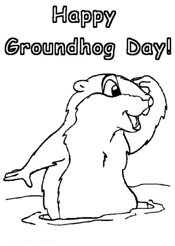 Groundhog day coloring pages to