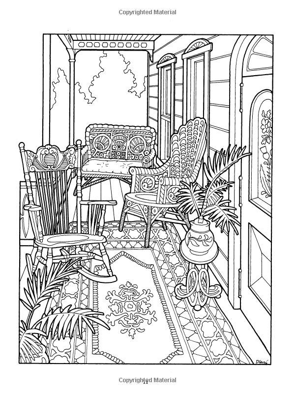 Inside House Drawing: Victorian Houses Coloring Pages Download And Print For Free