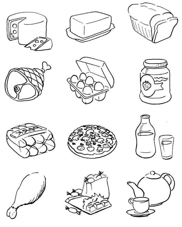 nutrition food coloring pages download and print for free - Food Coloring Pages