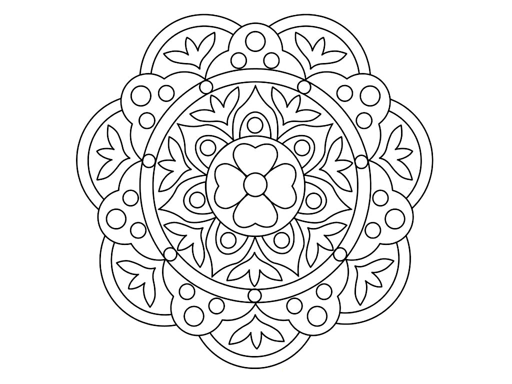 Rangoli coloring pages to download