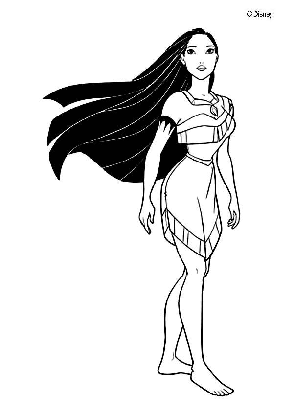 Pocahontas coloring pages to download