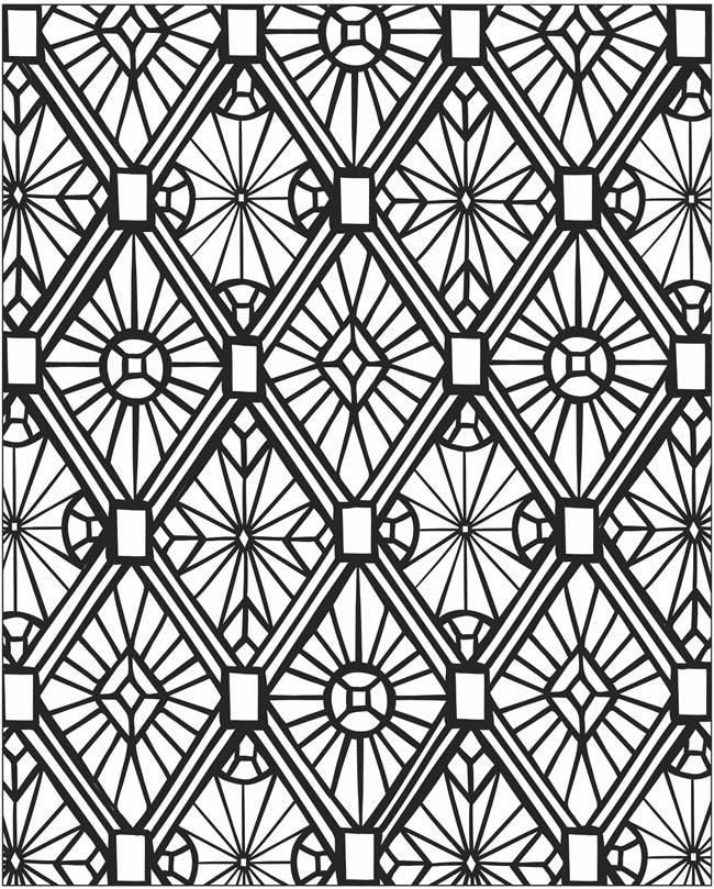 Free Printable Mosaic Coloring Pages