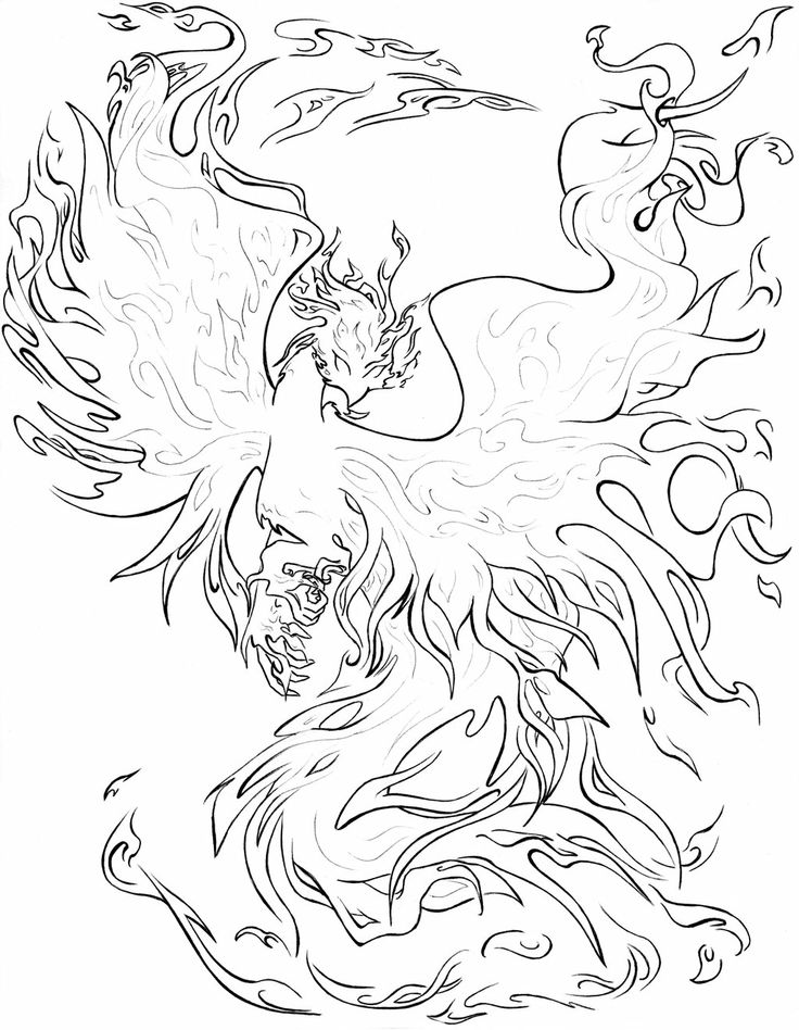coloring pages of phoenix - photo#6