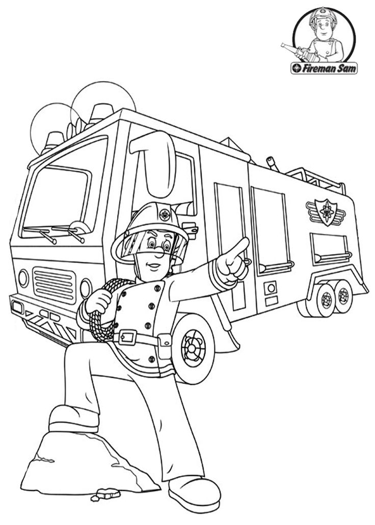 Fireman Sam Coloring Pages To Download And Print For Free Fireman Sam Coloring Pages
