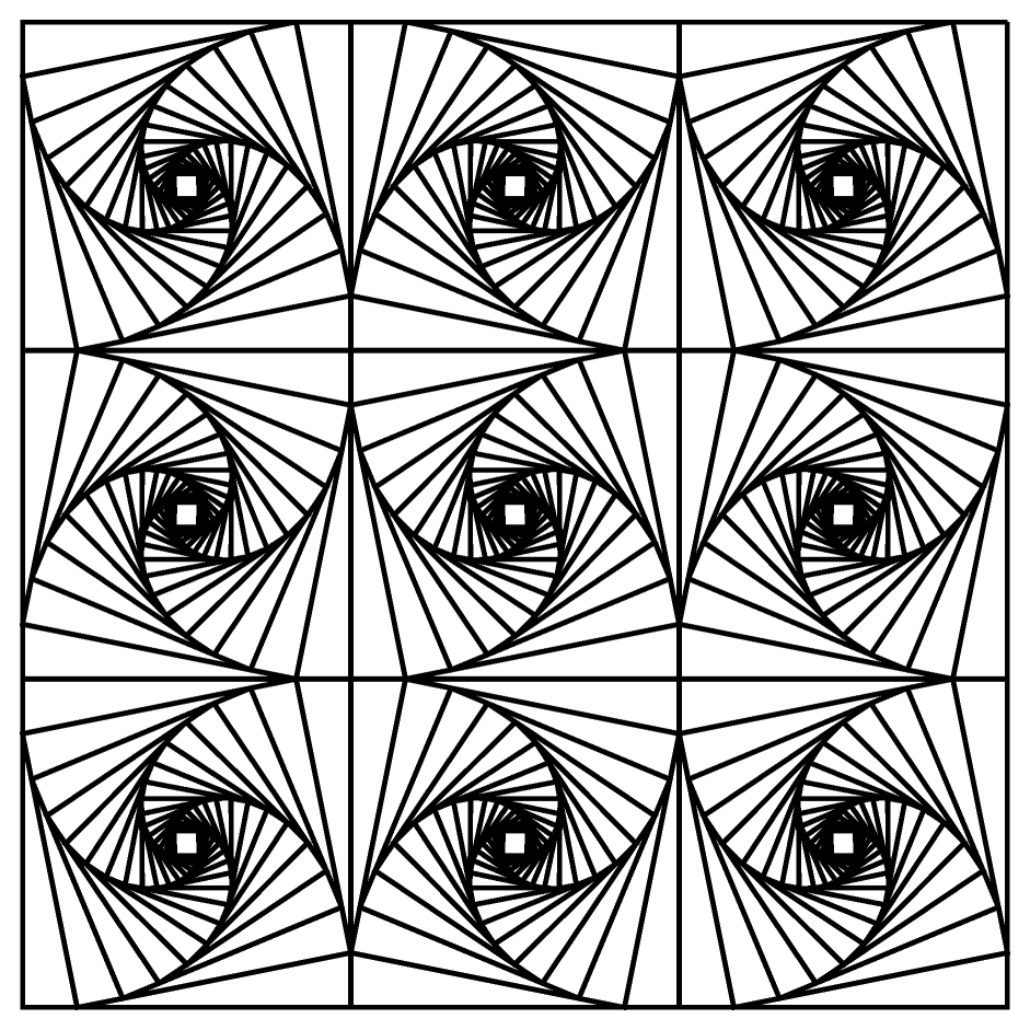 Optical illusion coloring pages