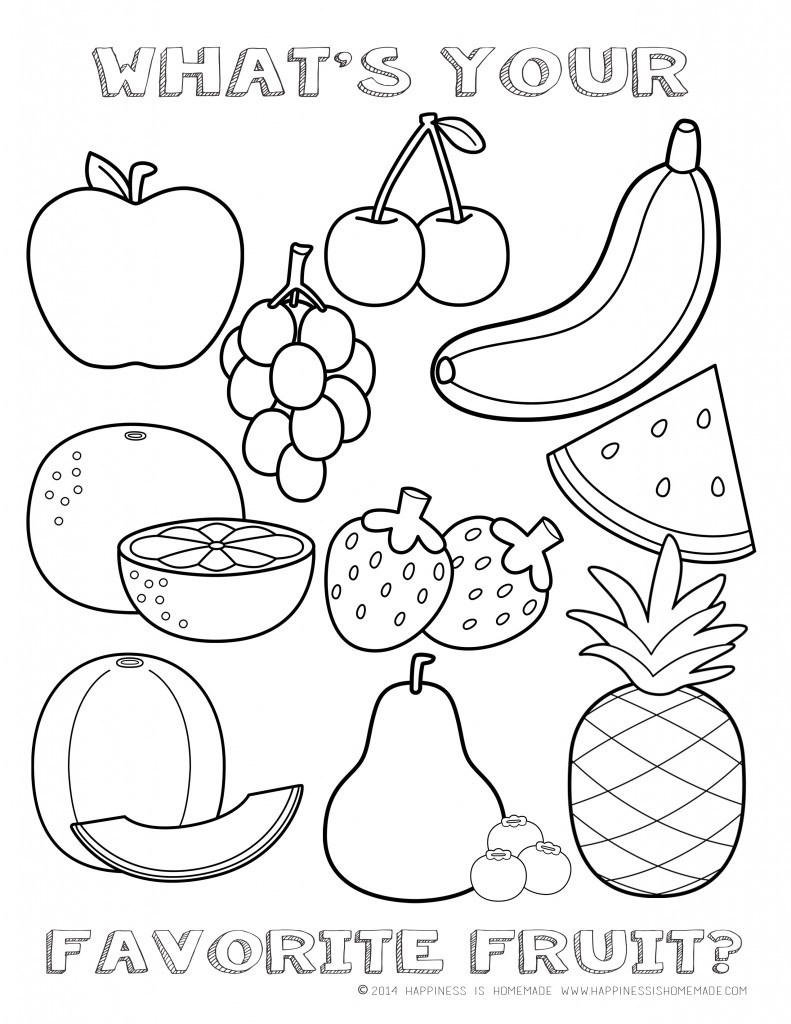 Nutrition coloring pages to download