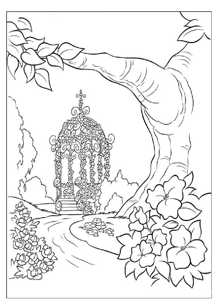 nature coloring pages print - photo#19