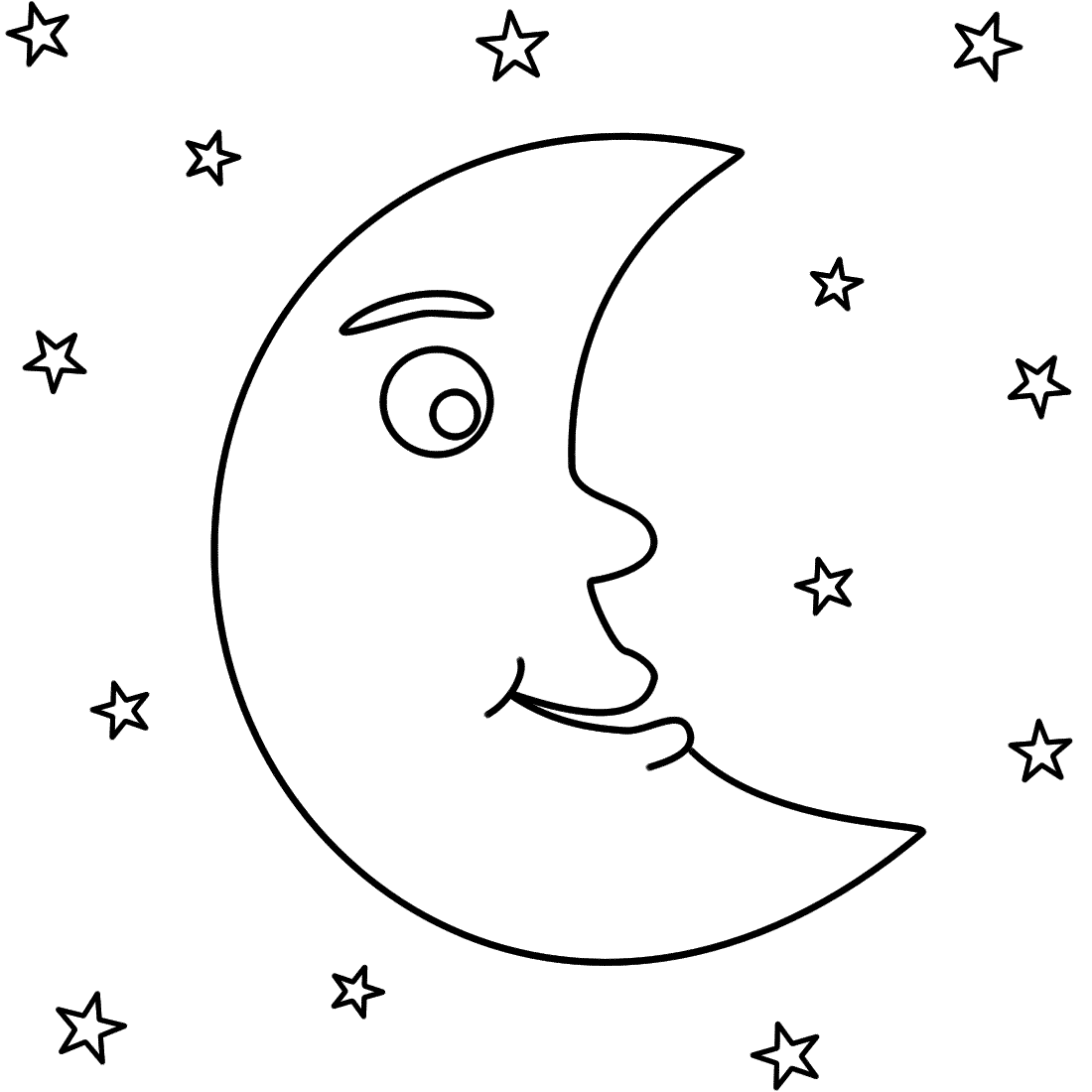 Moon coloring pages to download