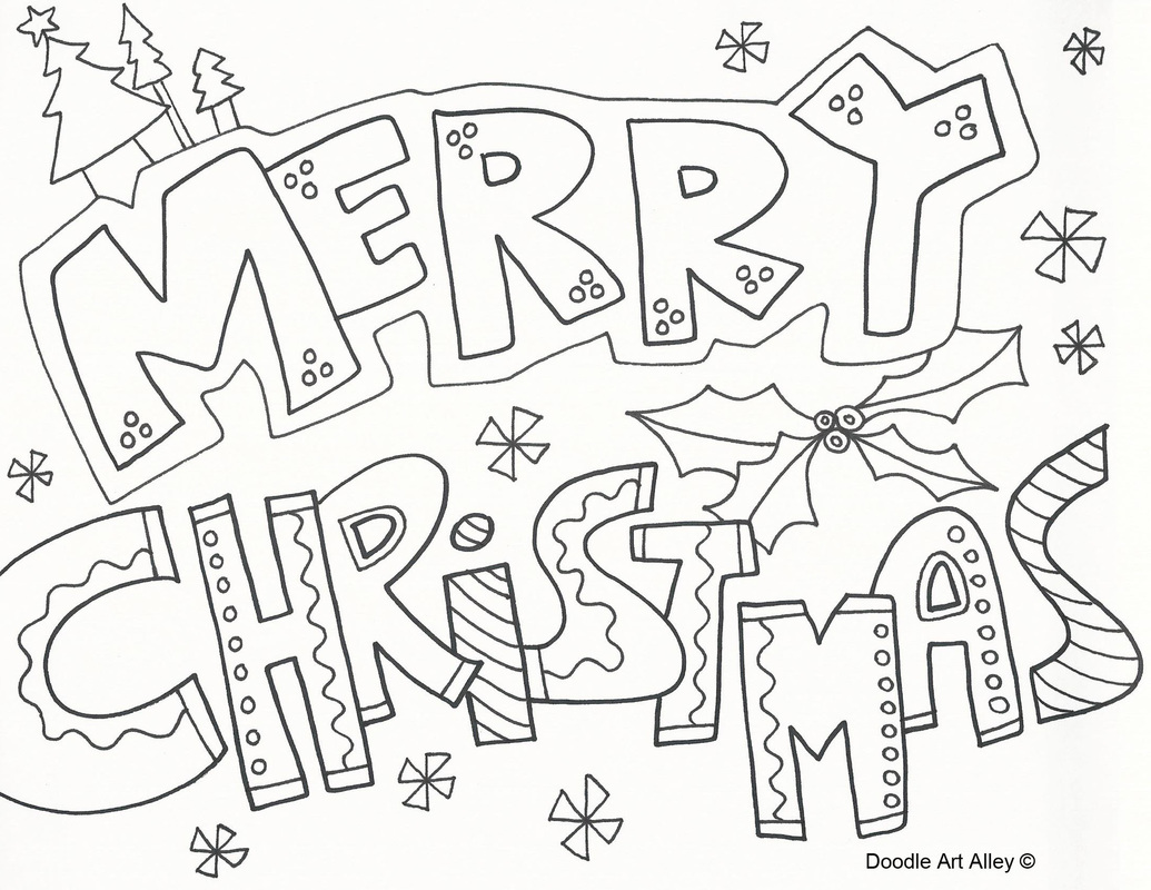 Merry christmas coloring pages to download and print for free for Pictures of christmas coloring pages