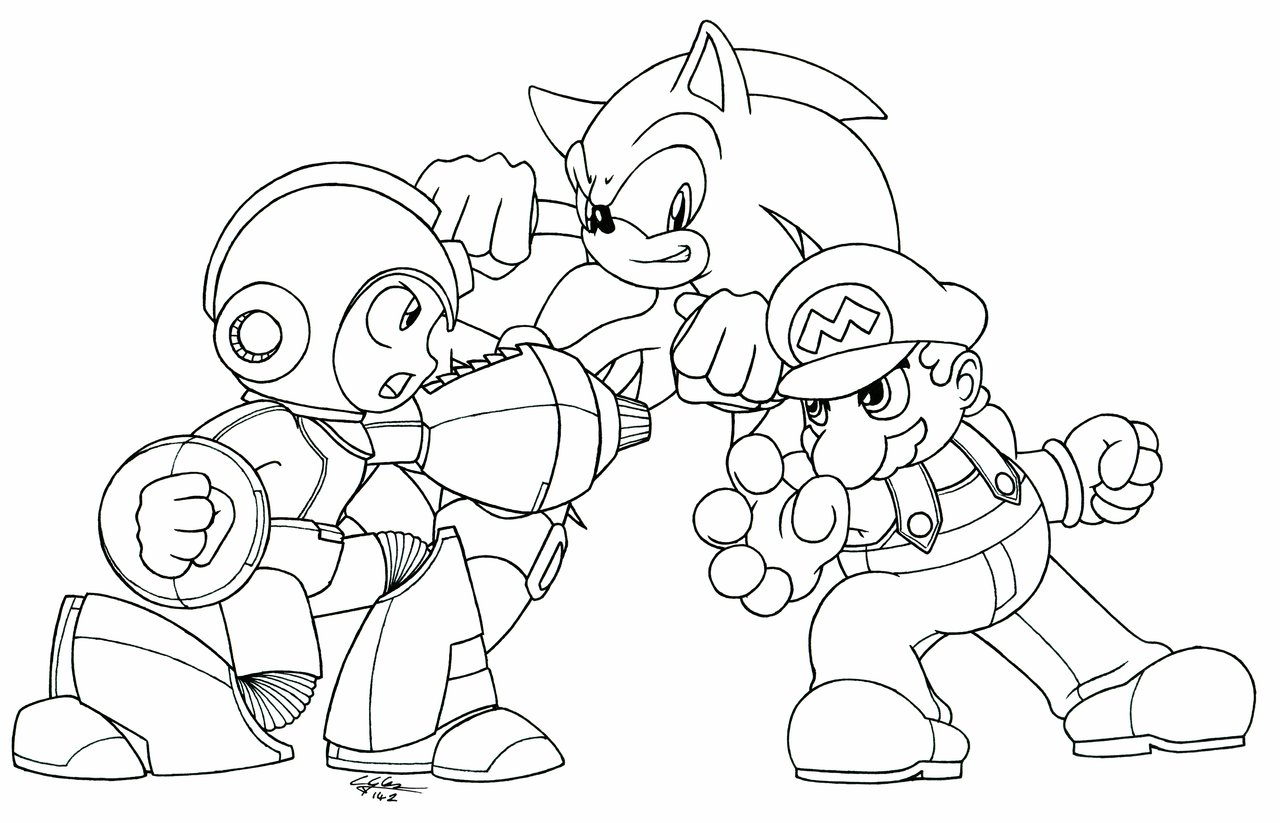 mega man coloring pages free - photo#3
