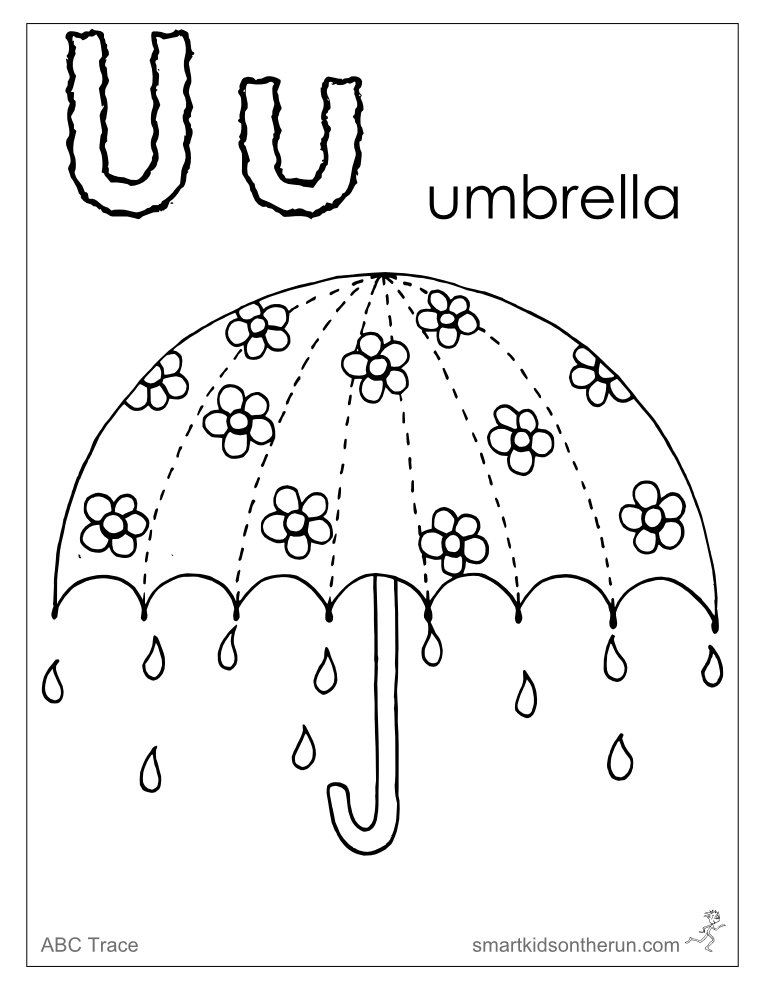 alphabet u coloring pages - photo#29