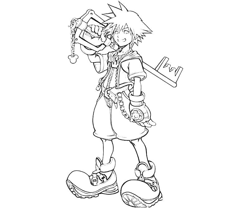 It is a graphic of Canny kingdom hearts coloring book