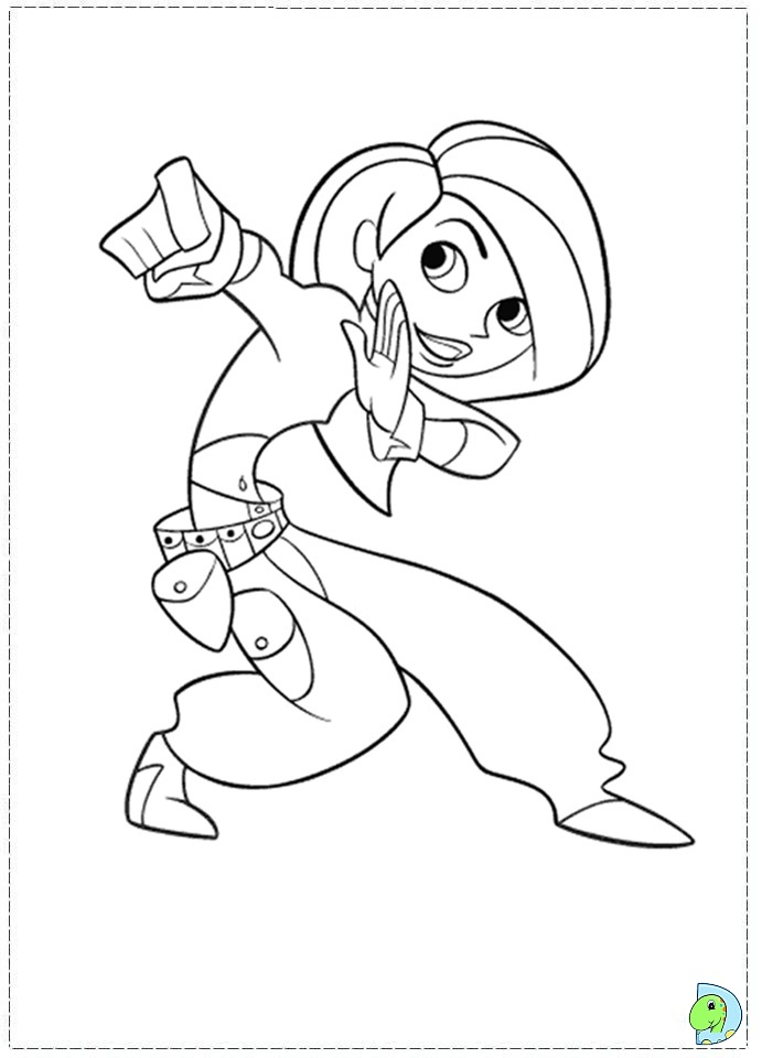 Kim possible coloring pages to