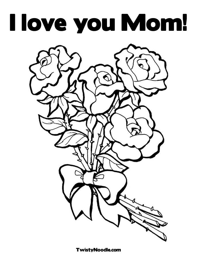 i love you mom coloring pages - Mom Coloring Pages