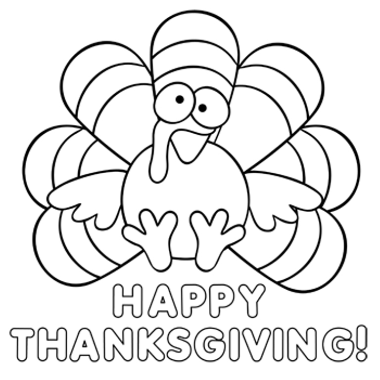 Happy Thanksgiving Coloring Pages Coloring Coloring Pages