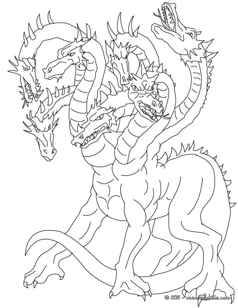 Greek mythology coloring pages to download and print for free