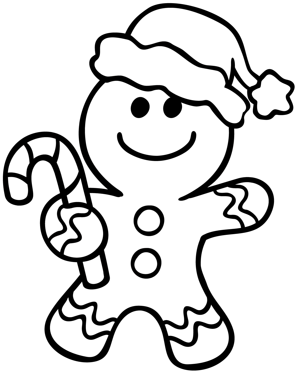 Gingerbread man coloring pages to download and print for free for Coloring pages man