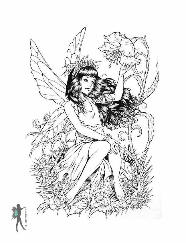 free printable coloring pages fairys - photo#32
