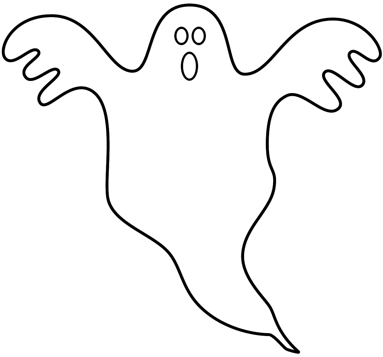 Ghost coloring pages to download