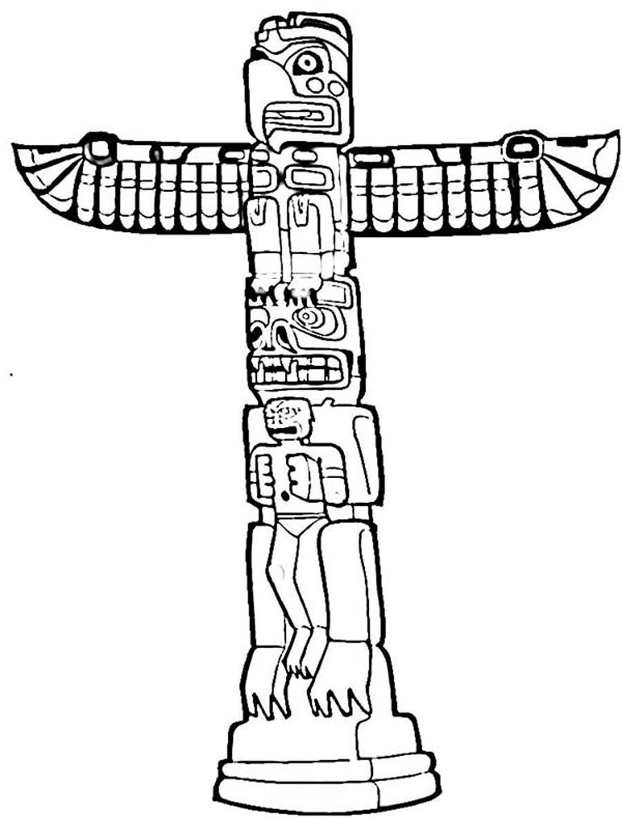 totem pole coloring pages - photo#16
