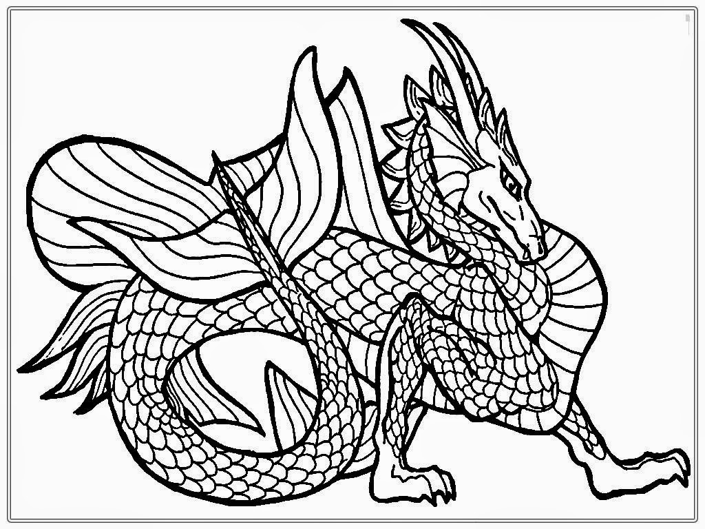Challenging coloring pages dragons
