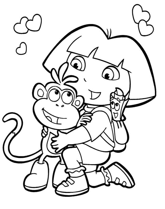 Dora And Boots Coloring Pages Dora And Boots Coloring Pages To Download And Print For Free