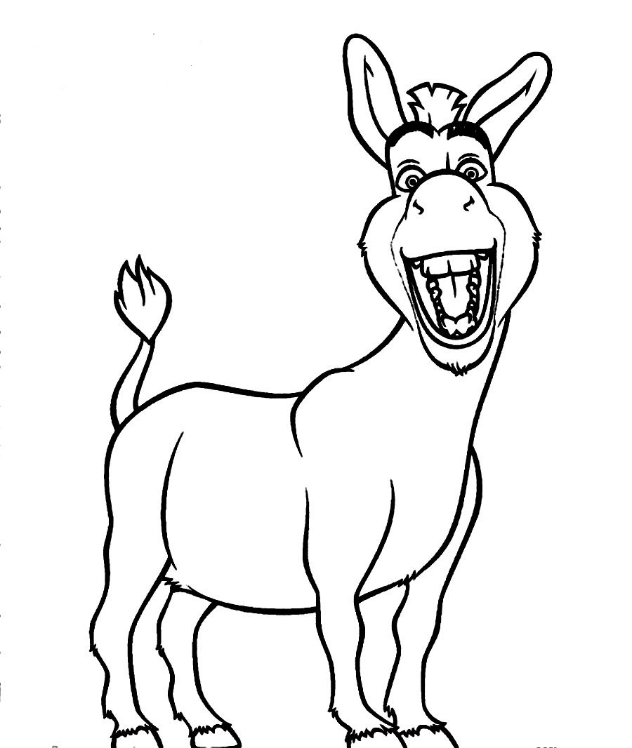 Donkey coloring pages to download and print for free