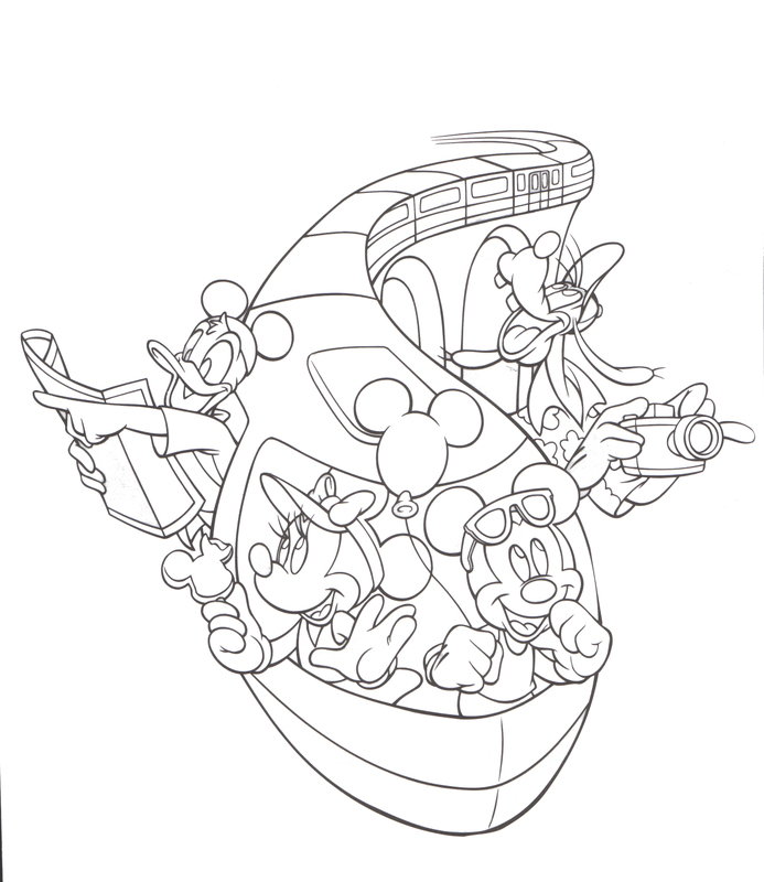 disneyland coloring pages - photo#3