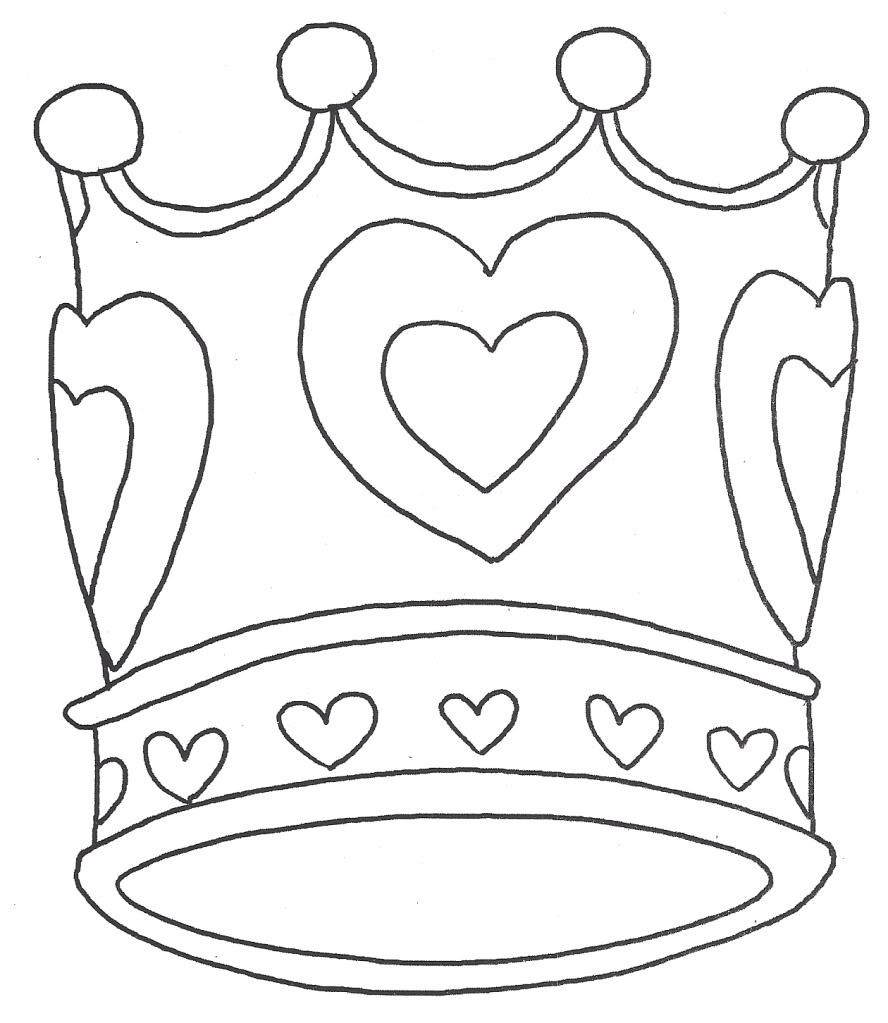 free crown coloring pages to print for kids download print and color - Crown Coloring Page