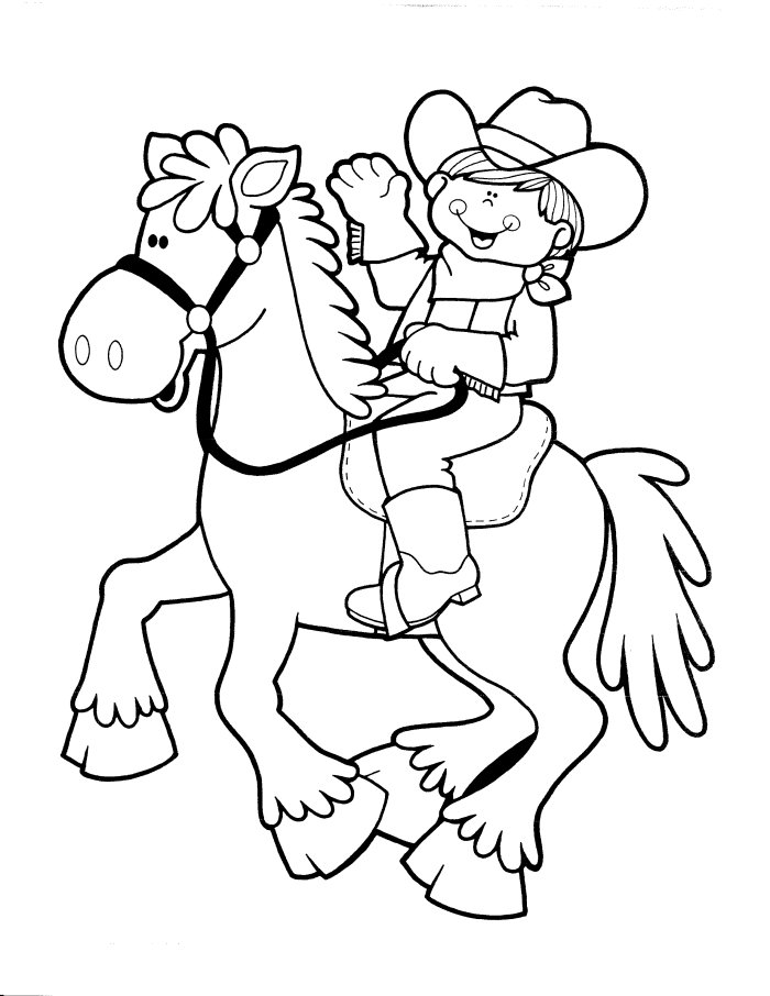 Cowboy coloring pages to download and print for free