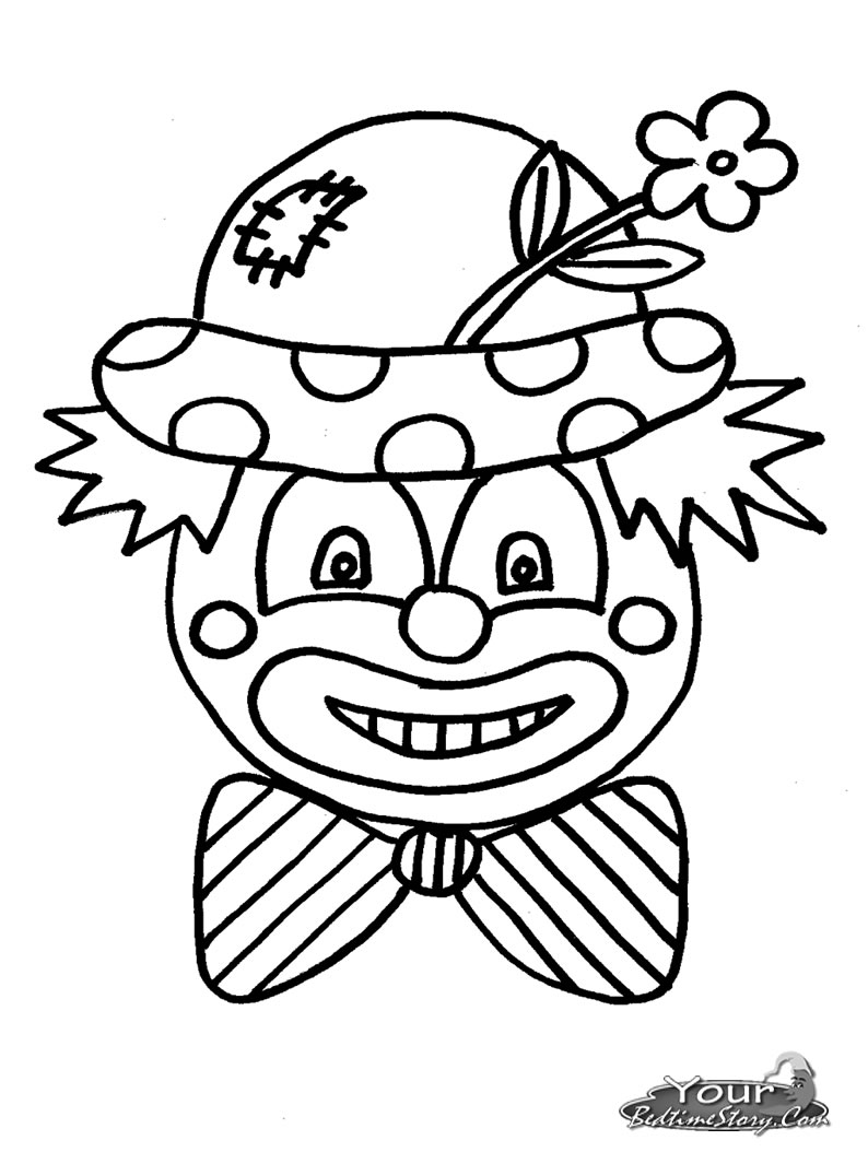 Clown coloring pages to download