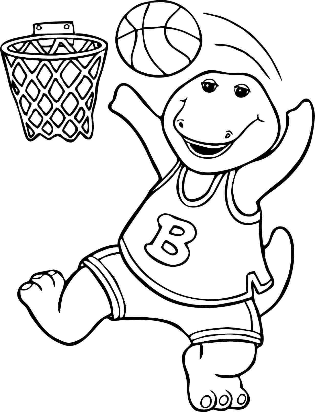 Barney coloring pages to download