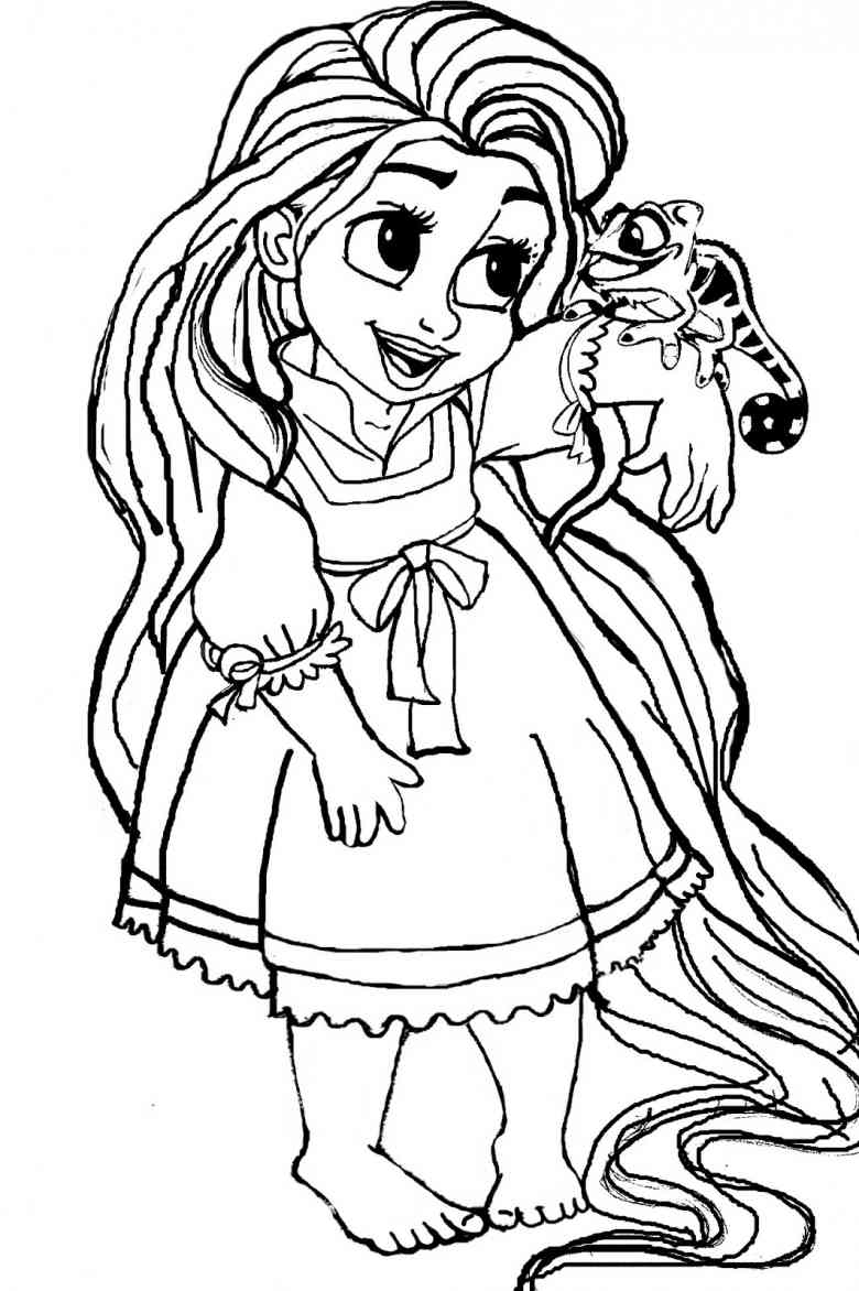 disnet princesses babies coloring pages - photo#19