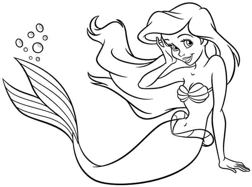 ariel coloring pages printable - photo#10