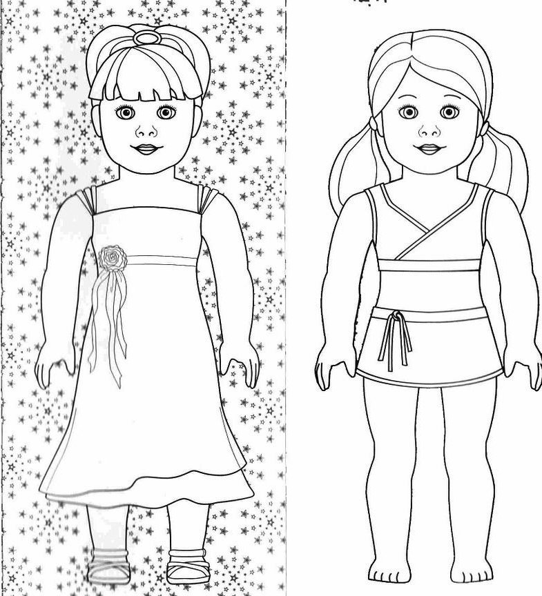 American Girl Doll Coloring Pages To Download And Print American Coloring Pages Julie Printable