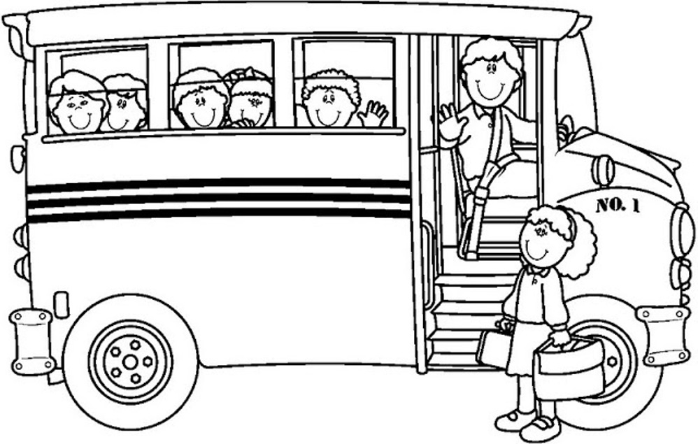 coloring pages bus - photo#13