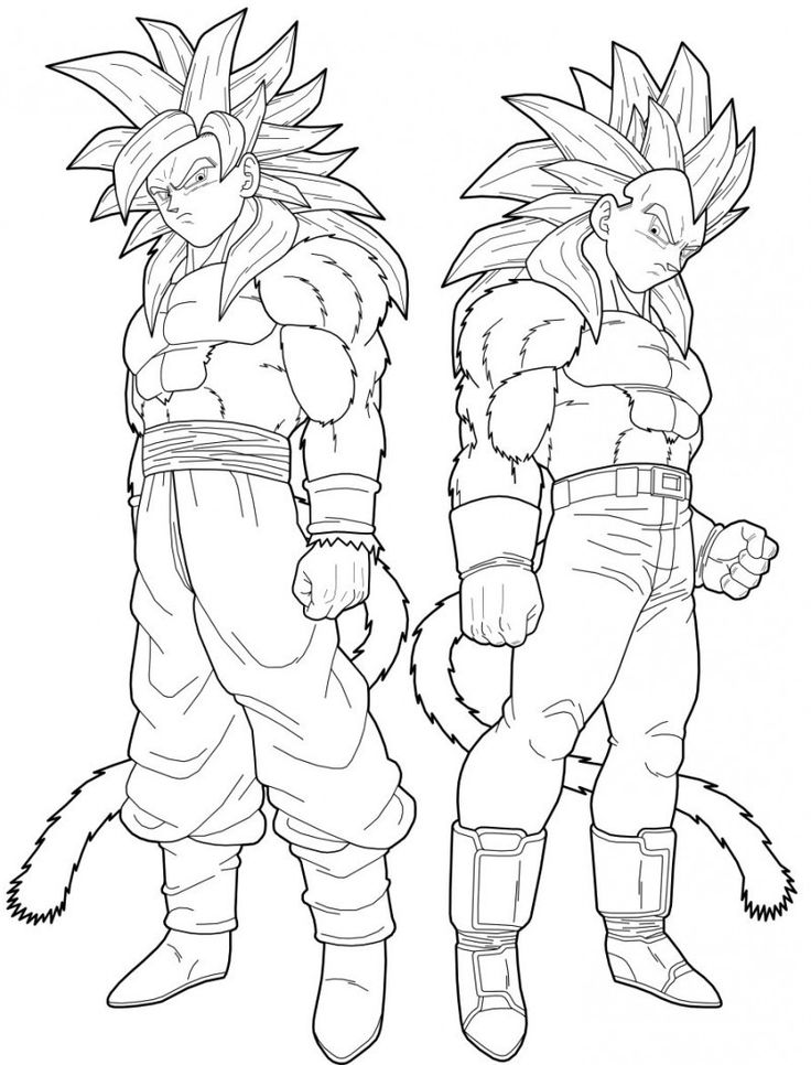 Goten super saiyan coloring pages download and print for free