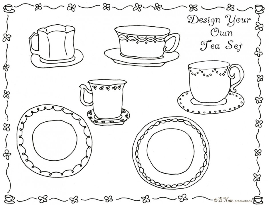 Attirant Tea Party Coloring Pages