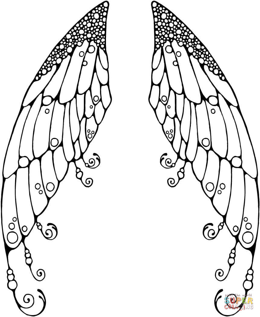 wings coloring pages - photo#9