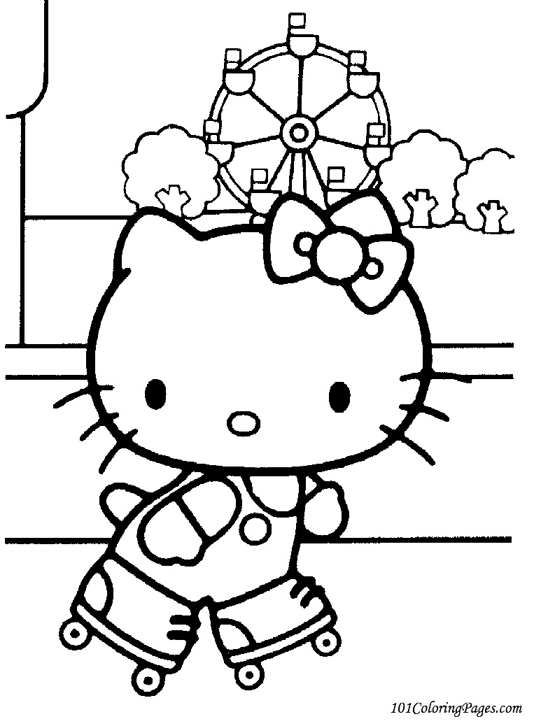 Cool hello kitty coloring pages download and print for free for Hello kitty coloring pages print