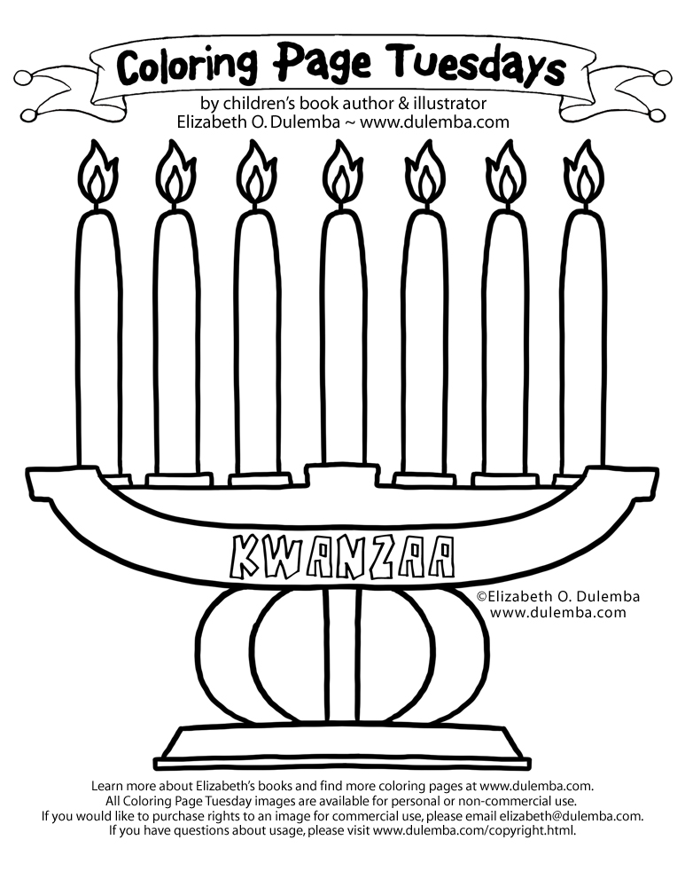 Coloring Page: Kwanzaa Candles Coloring Pages Download And Print For Free