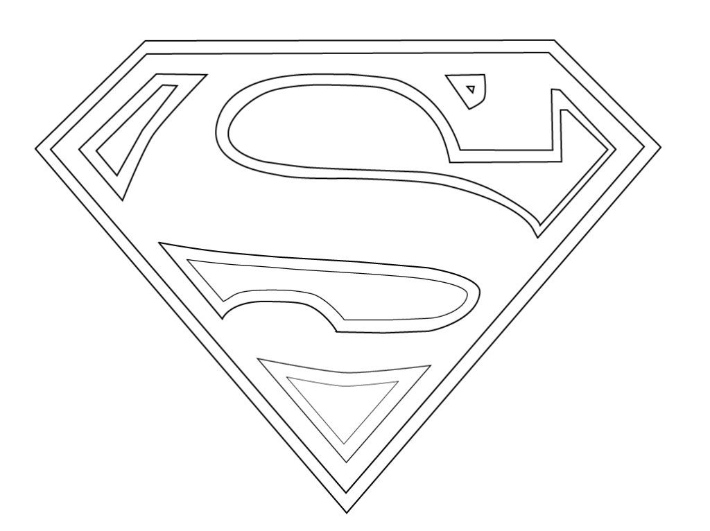 Superman logo coloring pages to download and print for free