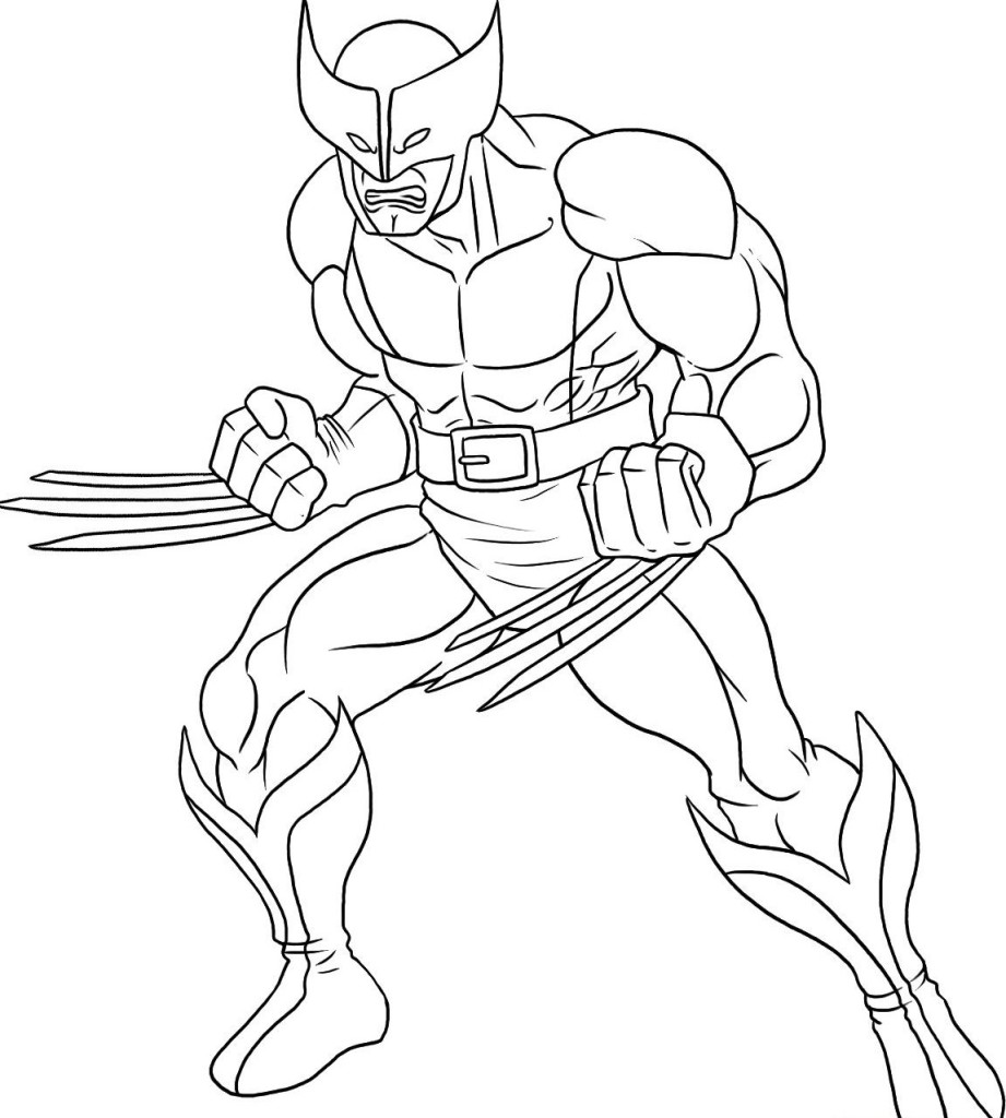 superhero free coloring pages - photo#19