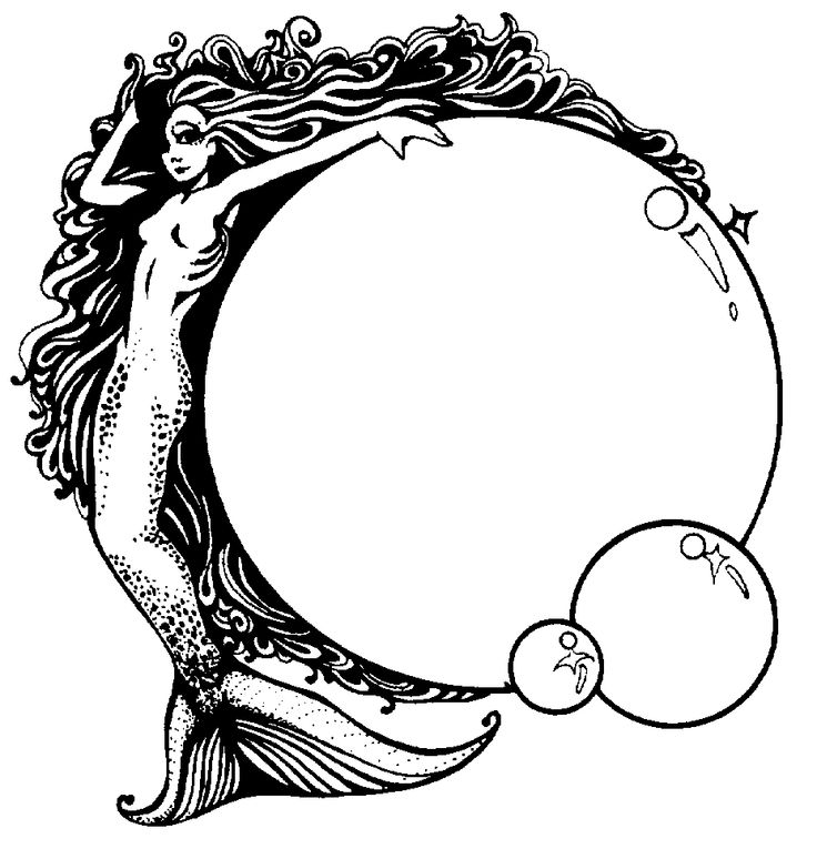 Realistic mermaid coloring pages download and print for free Realistic Mermaid Coloring Pages For Adults