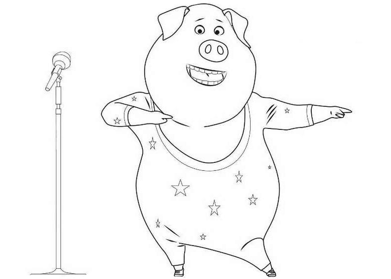 coloring pages of singing - photo#26