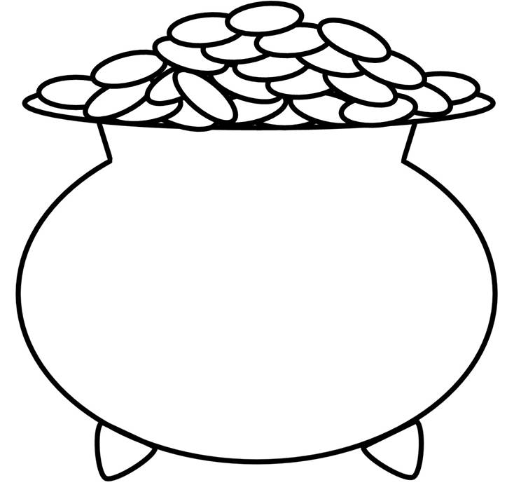 This is a graphic of Crafty pot coloring pages