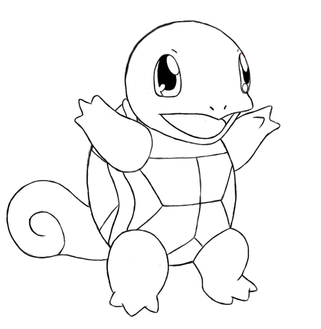 squirtle coloring pages to and print for free