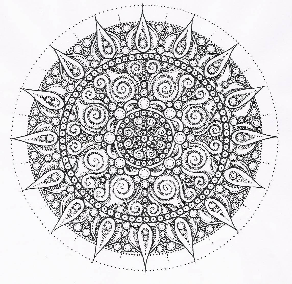 chakra mandala printable coloring pages - photo#7